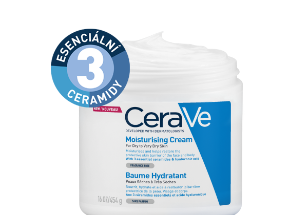 CeraVe Moisturizing Cream with 3 essential ceramides